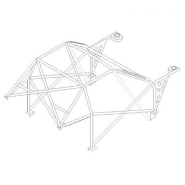 Custom Cages Honda S2000 Multipoint T45 Roll Cage