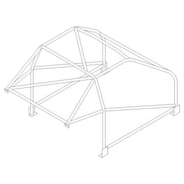 Custom Cages BMW 1 Series Coupe 2005 International Multipoint T45 Roll Cage