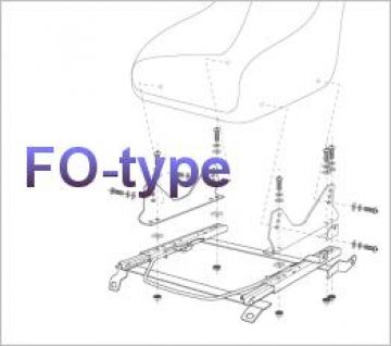 Bride Nissan 180SX RS13 Type-FO Seat Rail Subframe