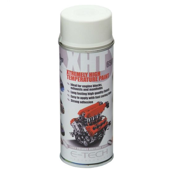 E-Tech Engineering XHT Xtremely High Temperature Paint – White, White