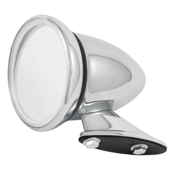 Revotec Stainless Steel Classic Racing Mirror – Convex Glass