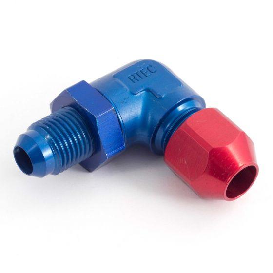 Krontec Bulkhead Fittings For Hardline Tube – 90 Degree – M14 x 1.5 Thread Fits 8mm OD Tube