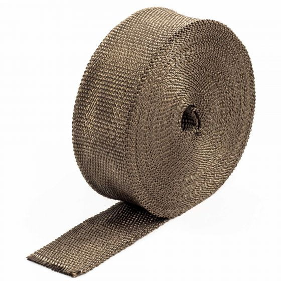"Pitking Products Volcano Exhaust Wrap – 2"" x 15FT Volcano Wrap, Brown"