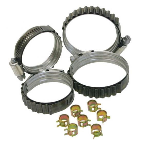 "Turbosmart Dual Bead Shield Hose Clip – 1.625 – 2.375"""