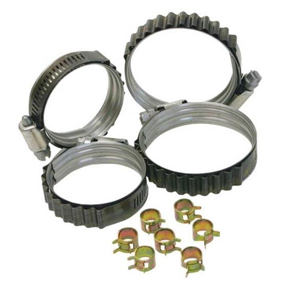 "Turbosmart Dual Bead Shield Hose Clip – 3.500 – 4.375"""