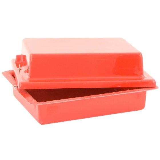 X-Sport Red Top 40 Lay Flat Battery Box – Red