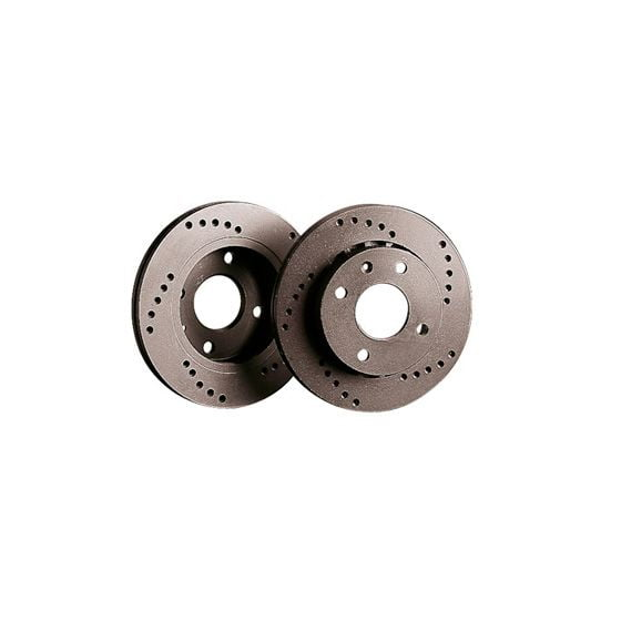 Black Diamond XD Cross Drilled Brake Discs – Rear Pair 335x18mm Vented Discs