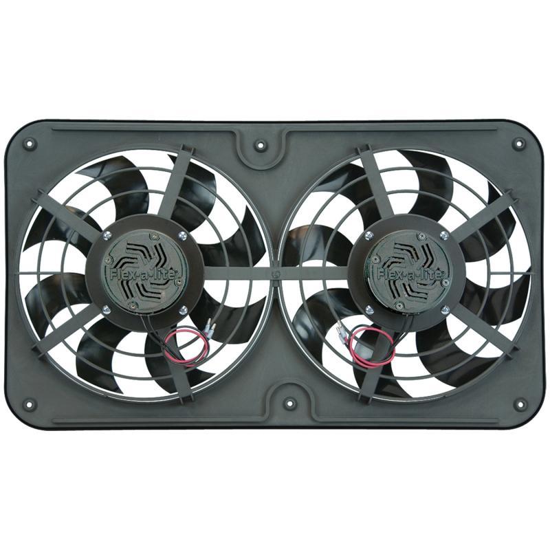 "Flex-A-Lite Fan Electric 12 1/8"" dual push/pull universal X-treme S-blade w/var spd control"