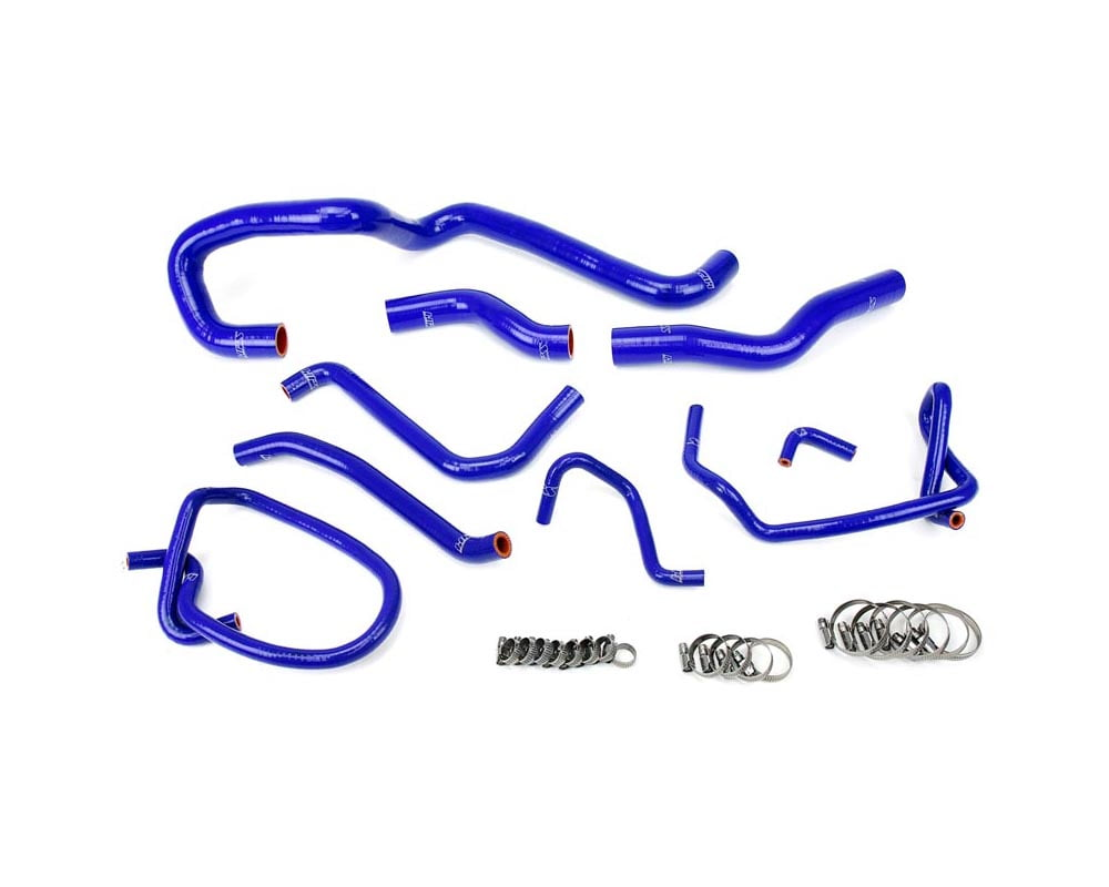 HPS Reinforced Blue Silicone Radiator Hose Kit Coolant for Mazda 06-14 Miata 2.0L