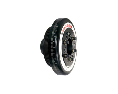 ATI Racing 6.325 Inch OD Aluminum 3.30lb Race Super Damper Kit Steel Crank Hub Honda Civic B16A2 92-00