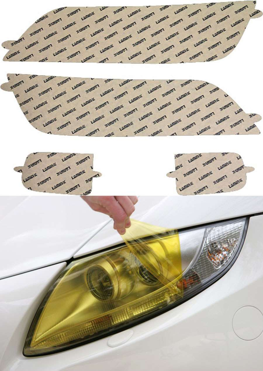 BMW Z3 96-02 Yellow Headlight Covers Lamin-X Model #B005Y