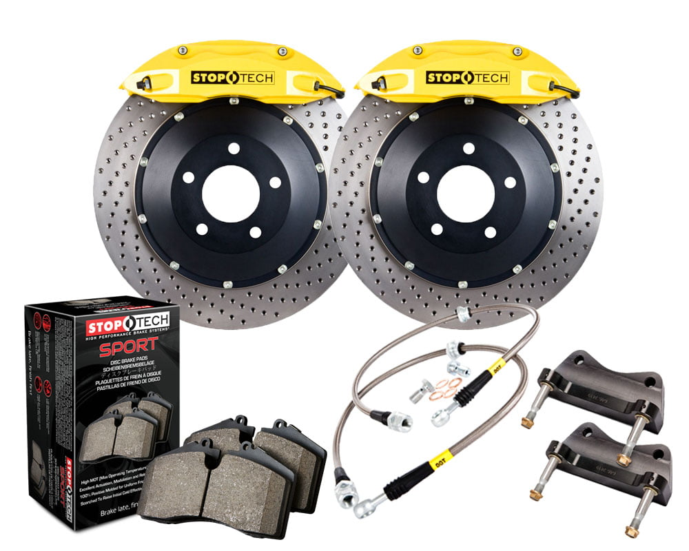 StopTech Big Brake Kit; Black Caliper; Slotted Two-Piece Rotor; Front BMW Front Model #83.133.4600.82