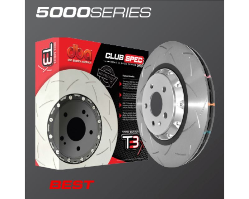 DBA 5000 Series Drilled and Dimpled Rear Replacement Rotor Nissan R35 GTR with Alcon Brake Kit 09-20