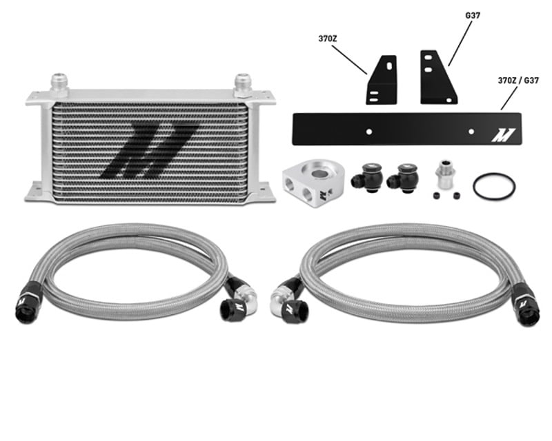 Mishimoto Silver Thermostatic Oil Cooler Kit Nissan 370Z 3.7L 09-14