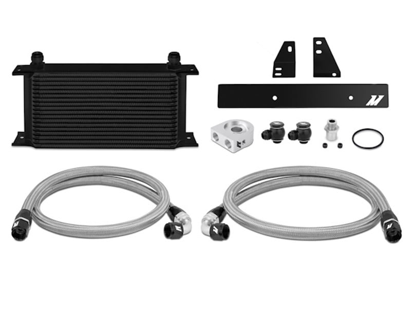Mishimoto Black Thermostatic Oil Cooler Kit Nissan 370Z 3.7L 09-14