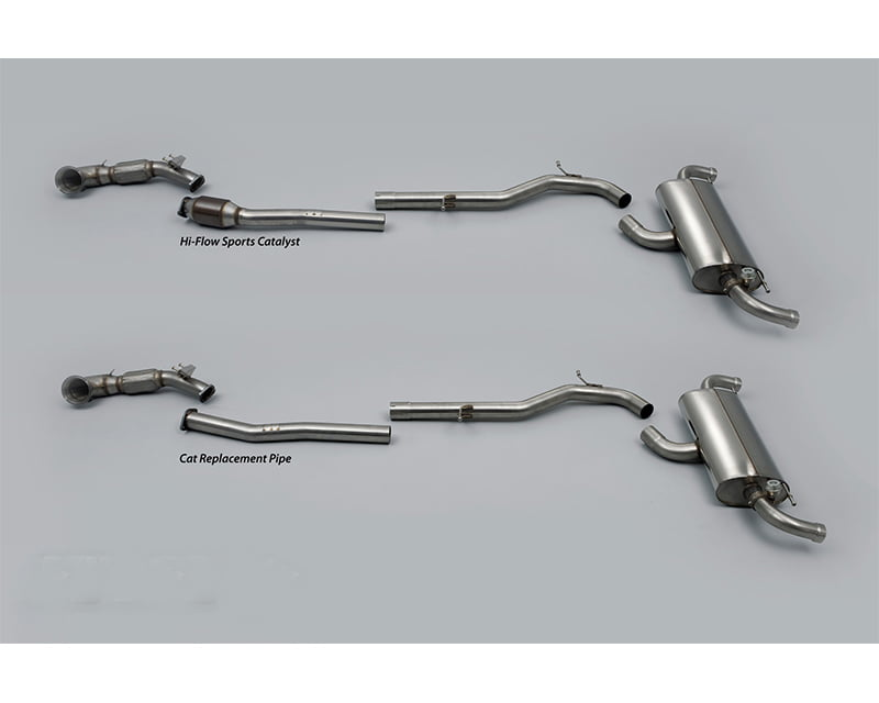 Milltek Valved 3 Inch Race Turboback Exhaust System without High Flow Cat Audi TT RS Quattro 07-12