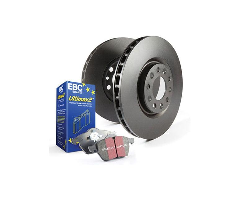 EBC Brakes S1KR Kit Number REAR Disc Brake Pad and Rotor Kit UD396+RK1009X BMW Rear