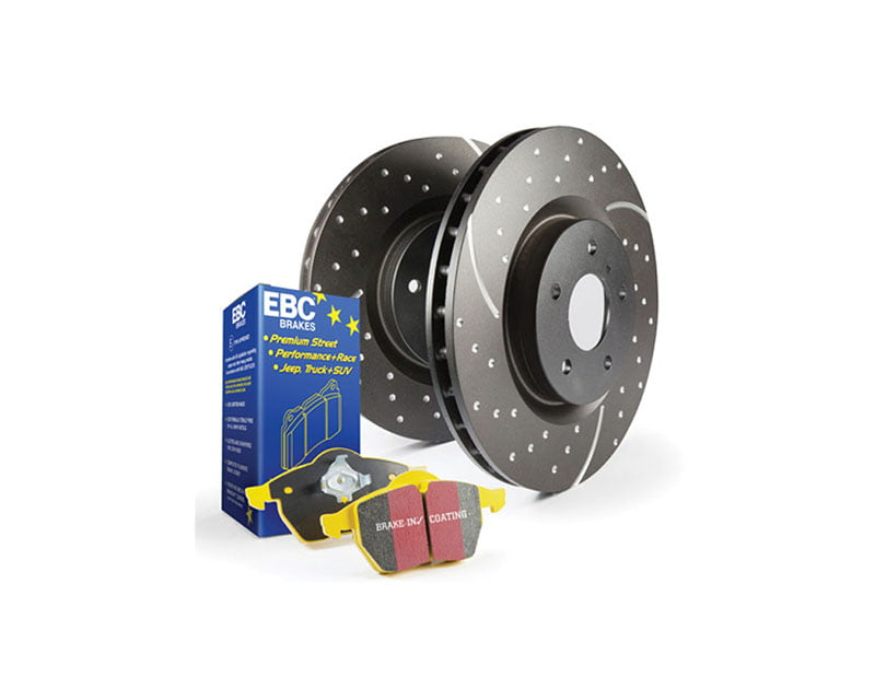EBC Brakes S5KF Kit Number Front Disc Brake Pad and Rotor Kit DP4689R+GD979 BMW Front