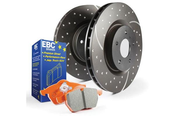 EBC Brakes S8 Kits Orangestuff and GD Rotors BMW Model #S8KR1148
