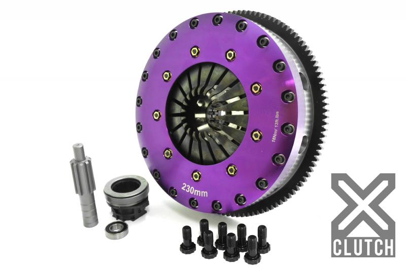 XClutch Clutch Kit with Chromoly Flywheel 9-Inch and Twin Solid Organic Clutch Discs BMW