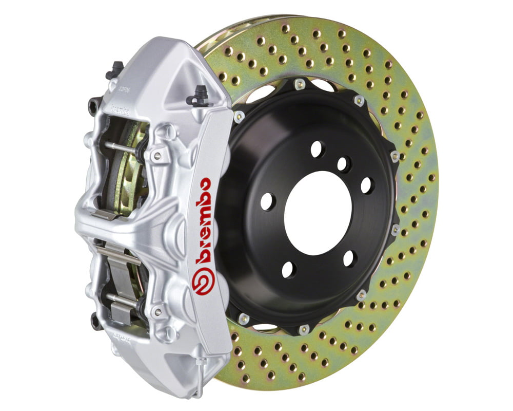 Brembo GT 355×32 2-Piece 6 Piston Silver Drilled Front Big Brake Kit