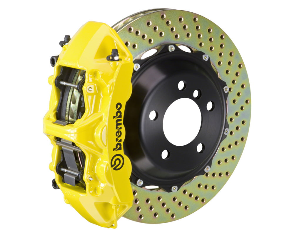 Brembo GT 355×32 2-Piece 6 Piston Yellow Drilled Front Big Brake Kit