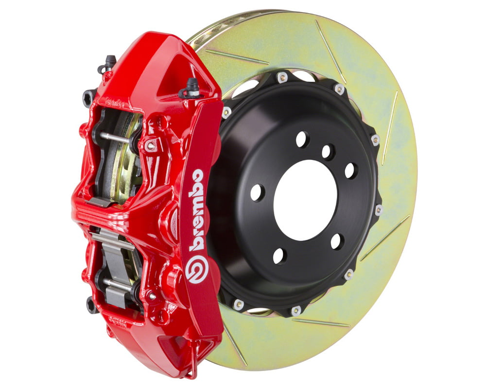 Brembo GT 355×32 2-Piece 6 Piston Red Slotted Front Big Brake Kit