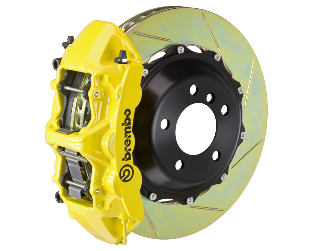Brembo GT 355×32 2-Piece 6 Piston Yellow Slotted Front Big Brake Kit