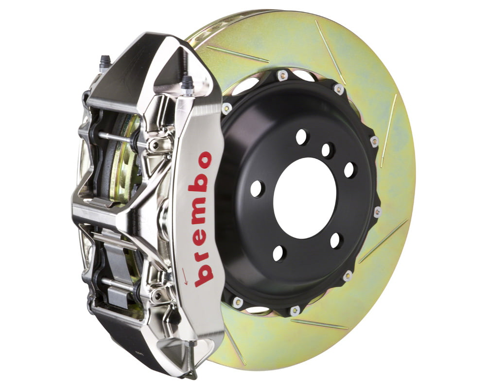 Brembo GT-R 355×32 2-Piece 6 Piston Nickel Plated Slotted Front Big Brake Kit