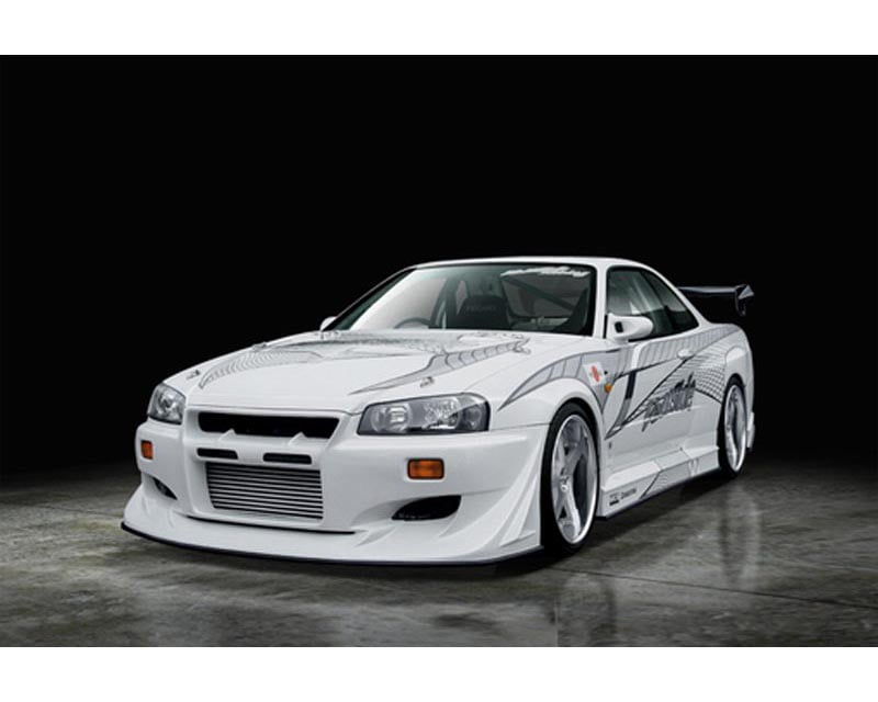 VeilSide 1999-2002 Nissan Skyline GTR BNR34 JDM VS-GT Model Side Skirts (FRP)