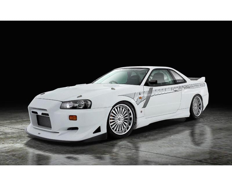 VeilSide 1999-2002 Nissan GTR JDM BNR34 Skyline Street Drag Model Side Skirts (FRP) Pair